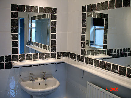 photograph of a bathroom tiled by Versa Tile Ceramics